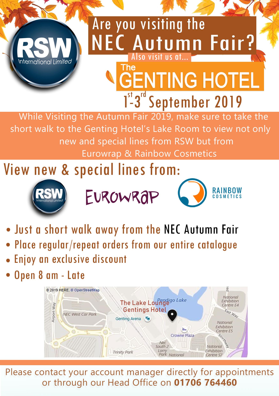 NEC Autumn Fair 2019