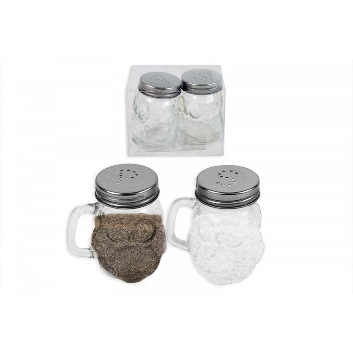 Mini Mason Jar Owl Salt And Pepper Pot Set Rsw International Ltd