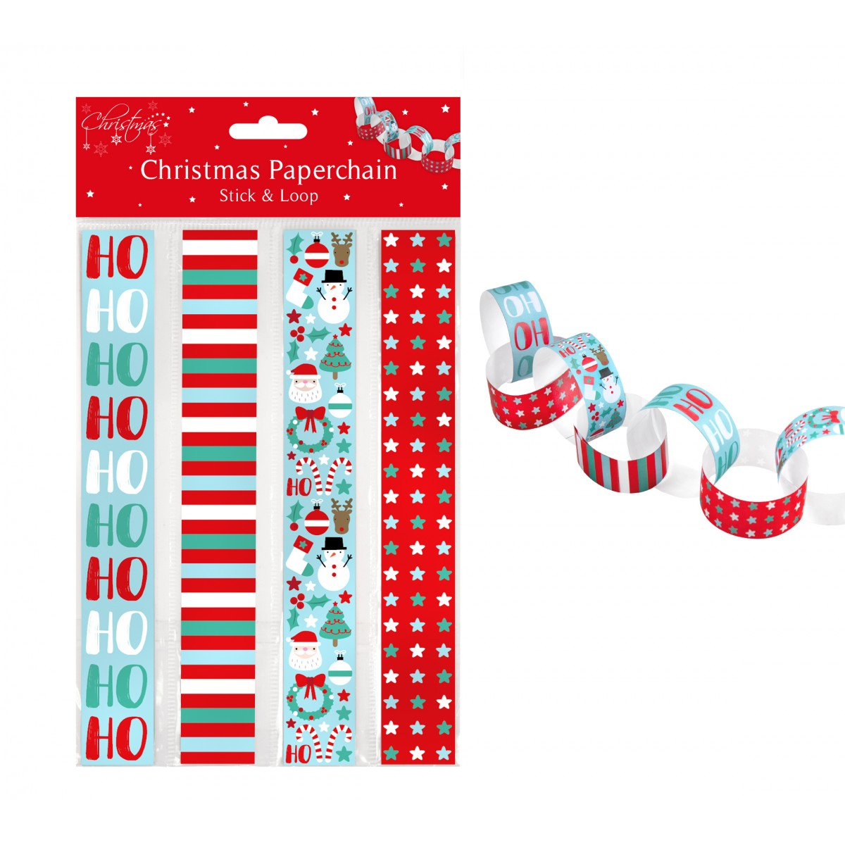 Christmas Paper Chains Uk.Pack Of Christmas Paper Chains