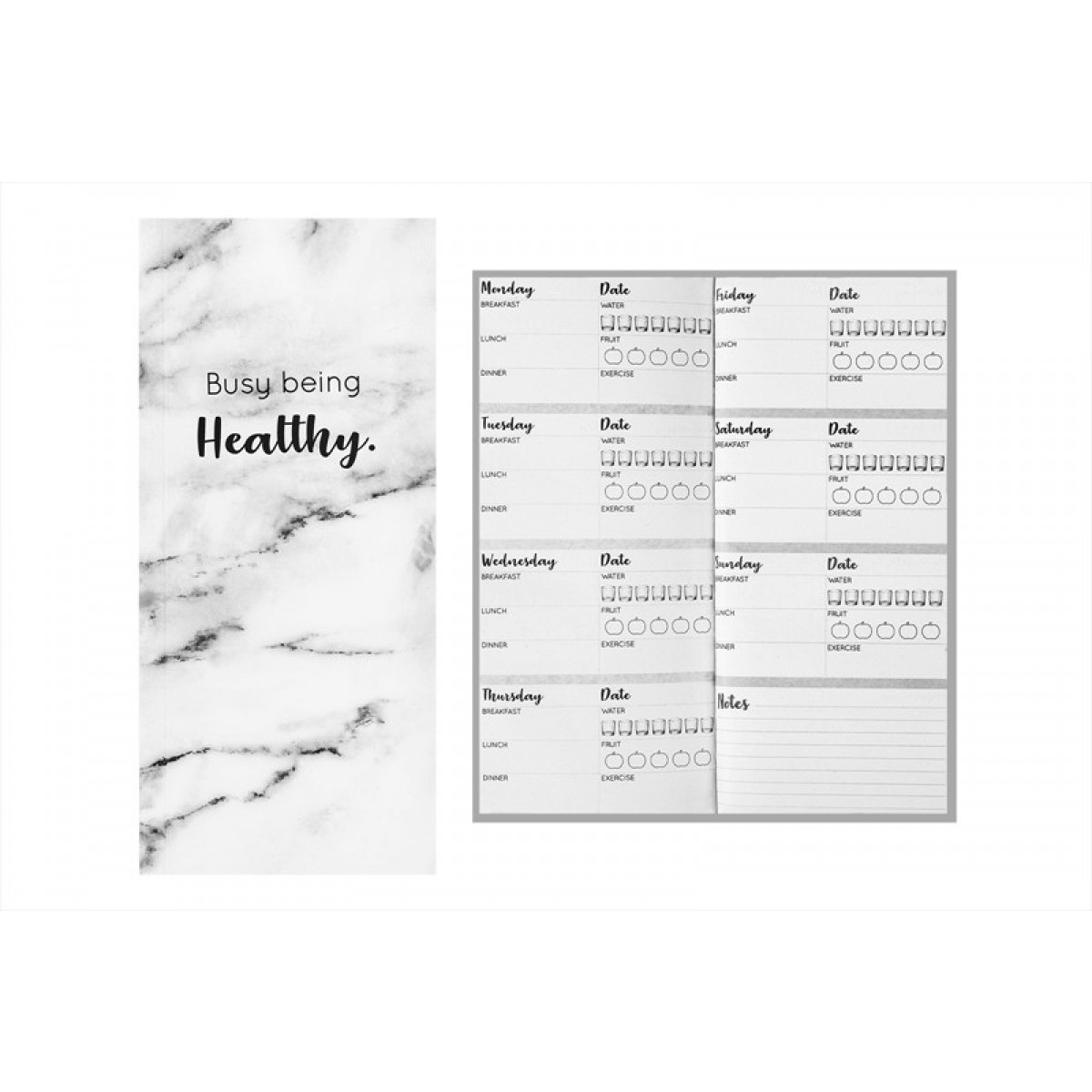Fashion Stationery My Well Being Health Tracker