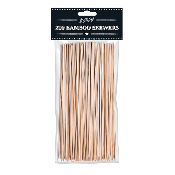 BAMBOO BBQ SKEWERS 200 PACK