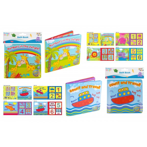 First Steps SOFT PVC & FOAM BABY LEARNING BATH BOOK