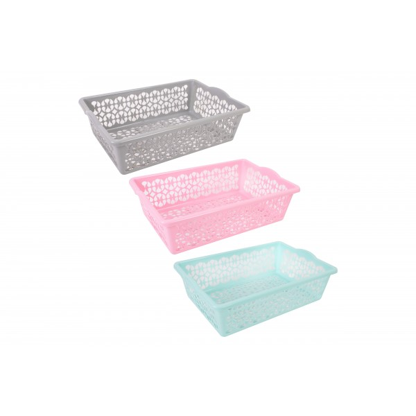 Brights Kitchenware MULTI-USE BASKET 39X27.5X12CM 4 ASSORTED COLOURS