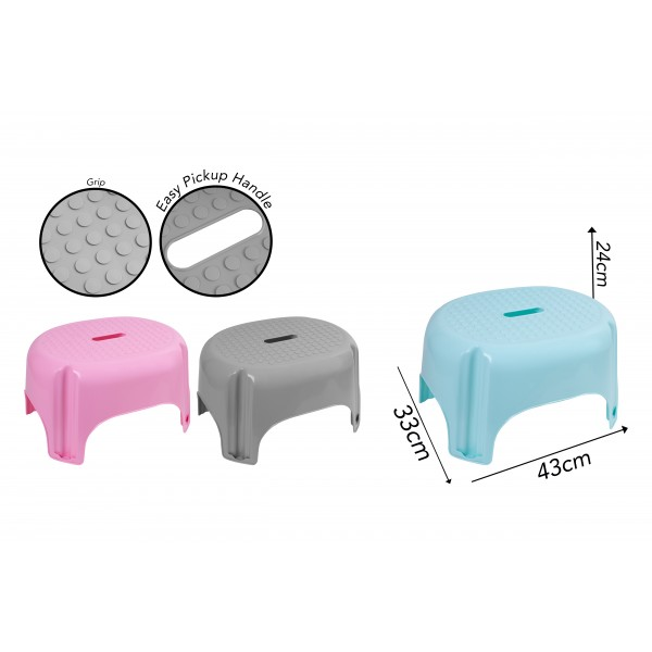 Brights Kitchenware LARGE STEP STOOL 43.5X34.5X24CM 4 ASSORTED COLOURS