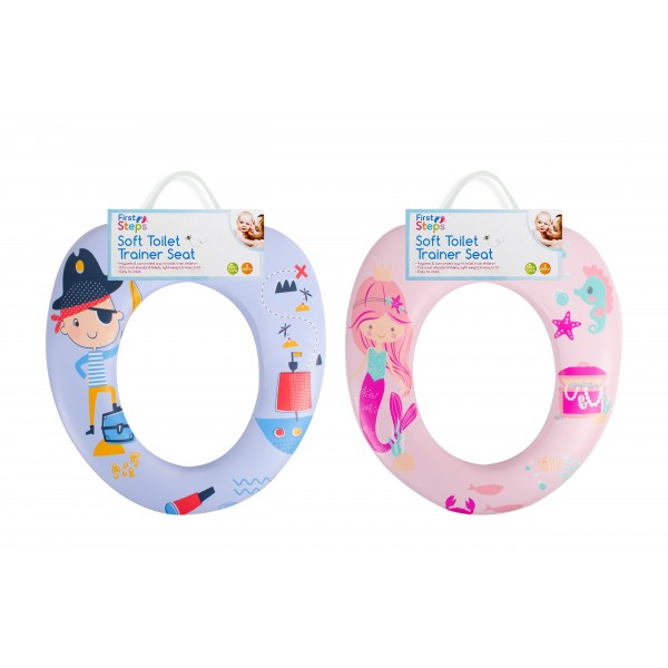 SOFT TOILET TRAINER SEAT 2 ASSORTED DESIGNS