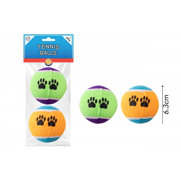 TENNIS BALL DOG TOY 2 PACK