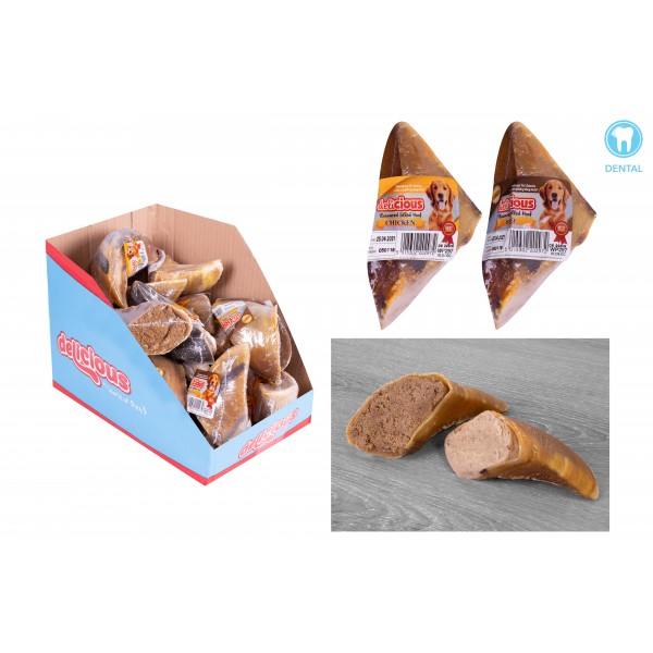 World of pets CHICKEN & BEEF FLAVOUR FILLED HOOVES (WITH PDQ)
