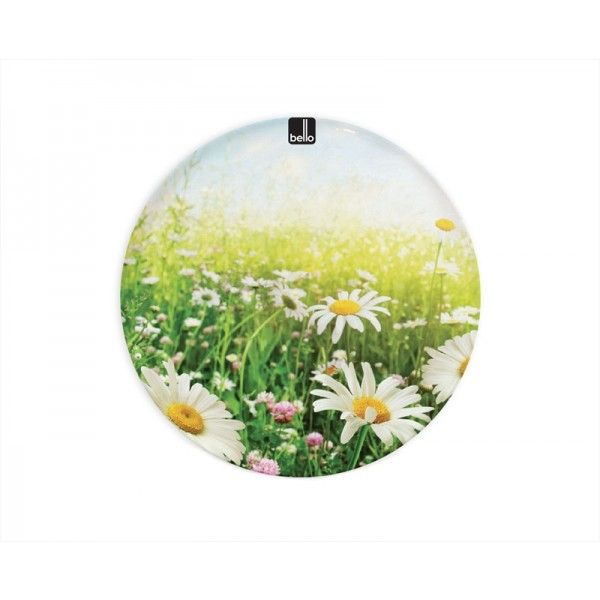 Melamine Dinner Plate Daisy Design 25.5cm AM1631