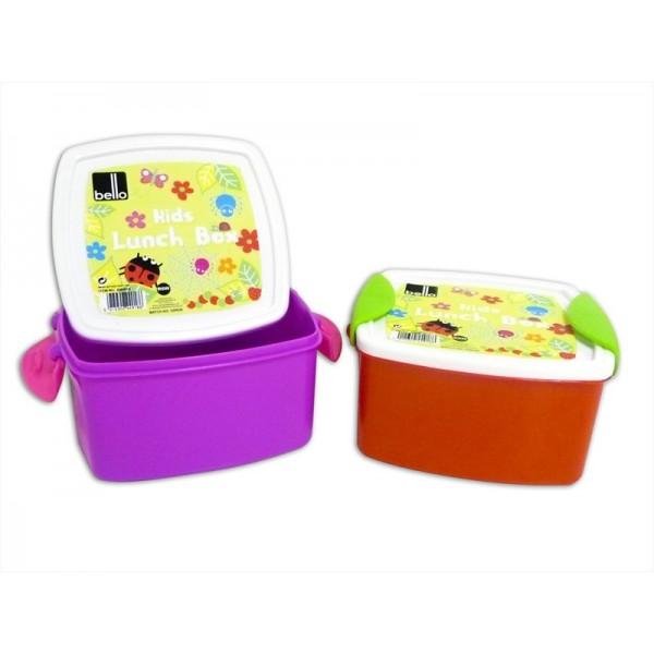 Kids Clip Top Lunch Box 2 Colours AM4918