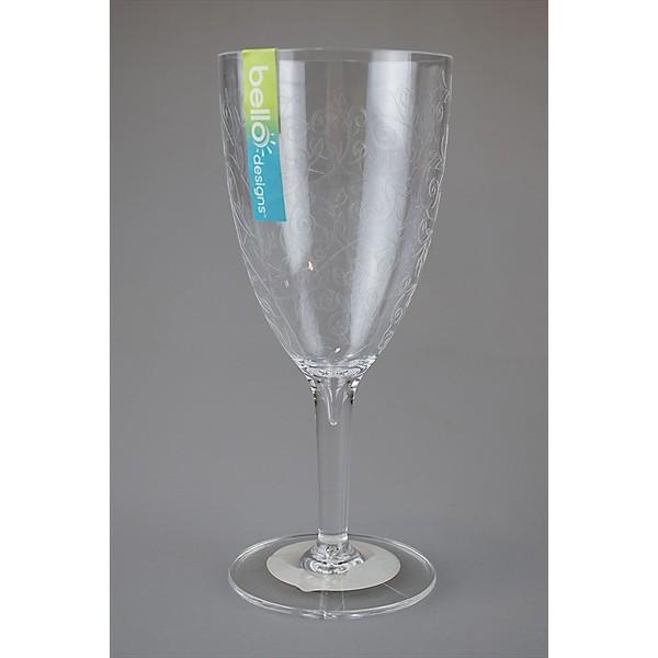 Clear Wine Goblet Etched Design AM2131