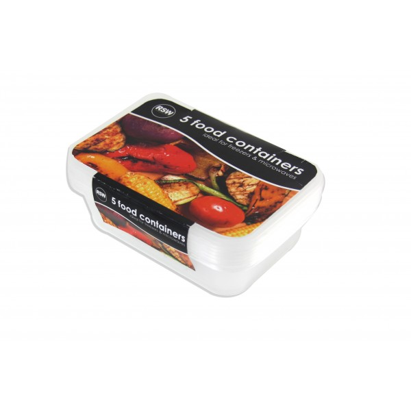 Freezer to Microwave Container 5 pack AM6273
