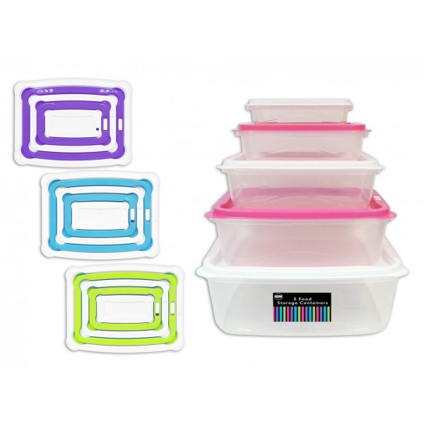 5 in 1 Food Storage Container 4 Colours AM3012