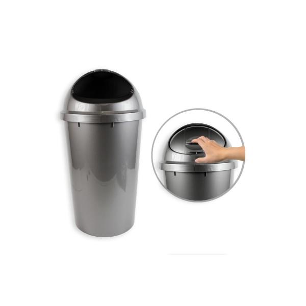 25l Silver Dome Top Waste Bin AM9701