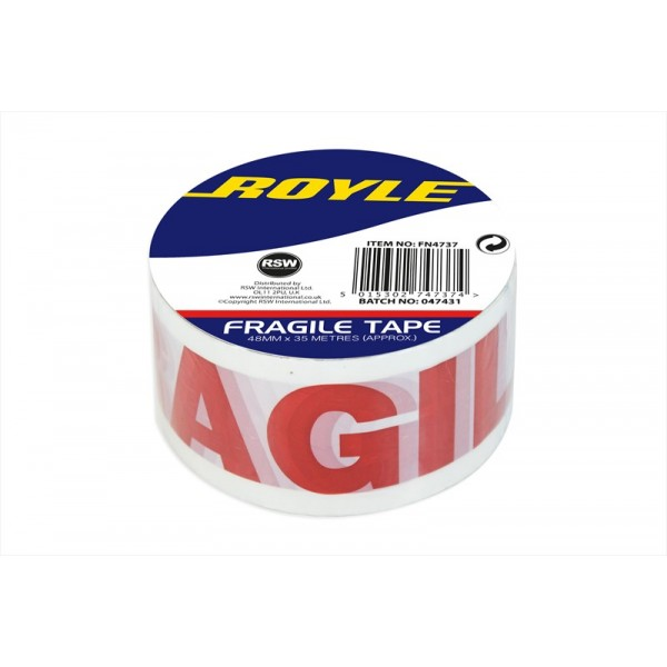 1 ROLL OF CLEAR FRAGILE PACKING TAPE 48MMX35M