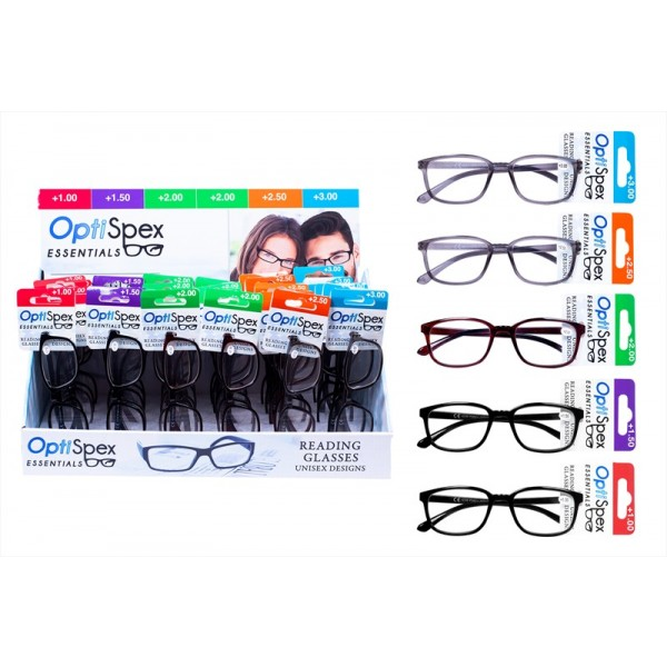 Reading Glasses Mixed Strength Three Colour FN1179