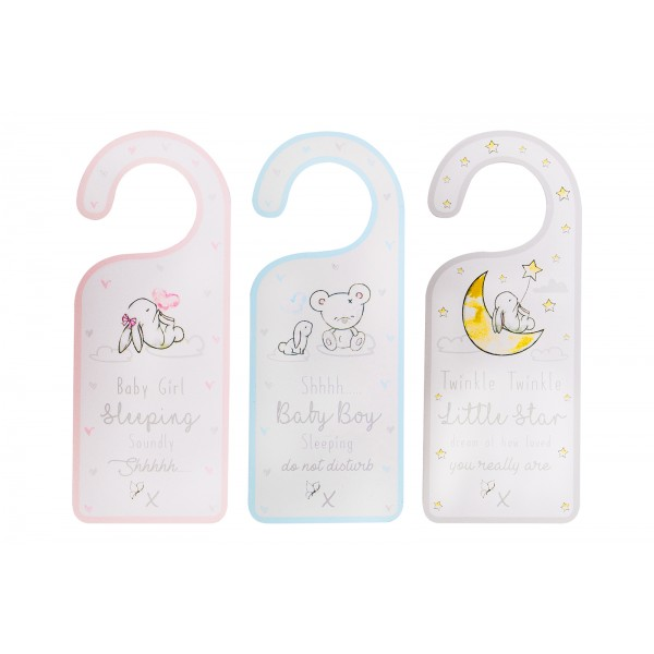 Hugs & Kisses BABY DOOR PLAQUE 3/ASSORTED