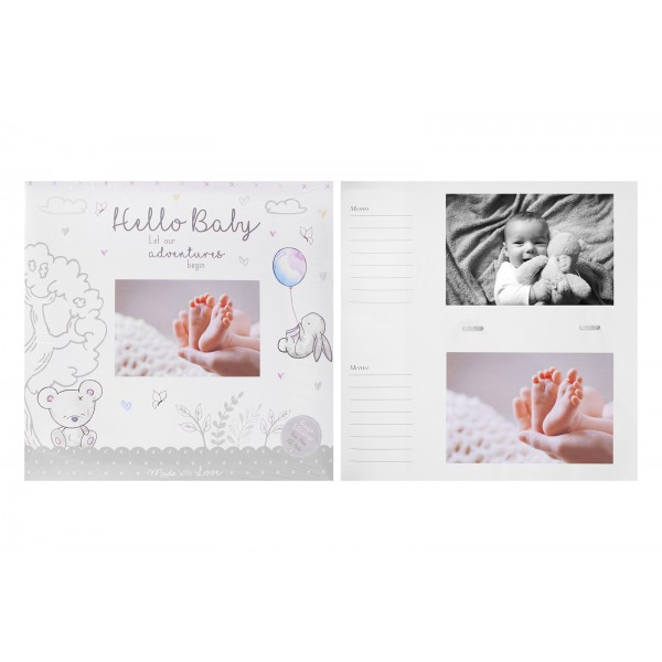 Hello Baby Photo Album 4x6""