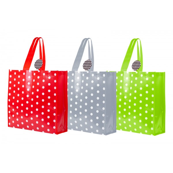 RSW POLKA DOT SHOPPING BAG 3 ASSORTED COLOURS