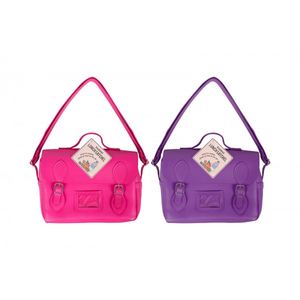 RSW INSULATED SATCHEL LUNCH BAG 2 COLOURS 20X7X24CM