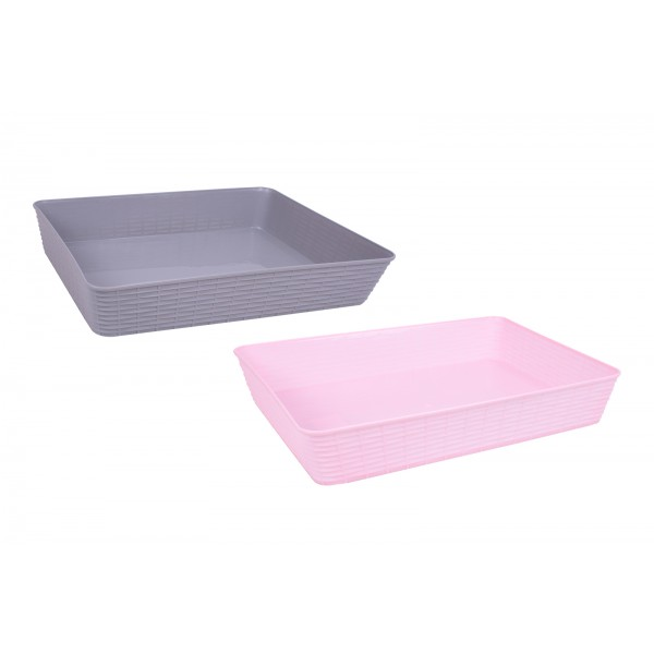 A4 Basket Two Assorted Colours 33.4x26.3x64cm
