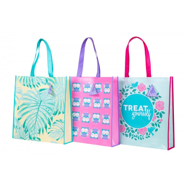 RSW PP SHOPPING TOTE BAG 38CM 3 ASSORTED DESIGNS