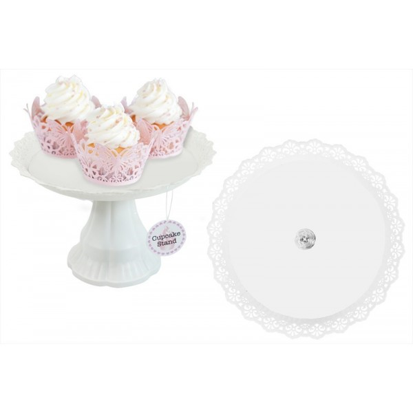 RSW CAKE STAND 26X17CM WHITE ONLY