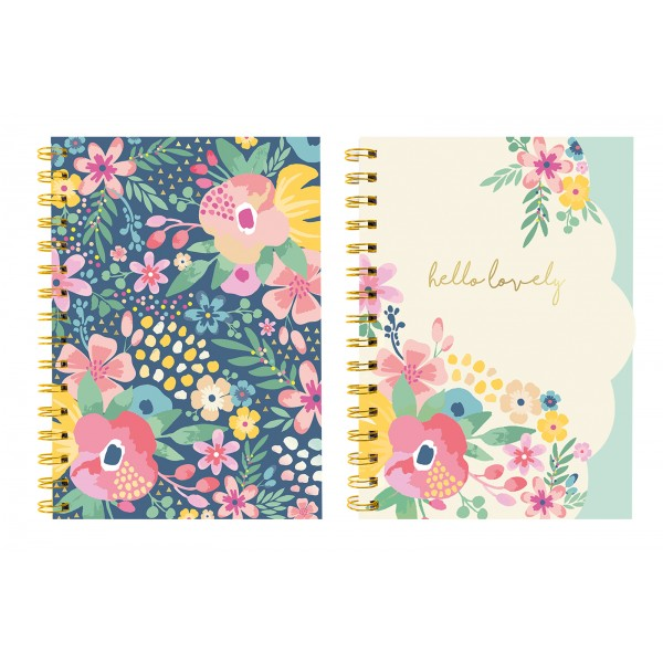 Hello Flower A5 NOTE BOOK 2 ASSORTED FLOWER DESIGNS