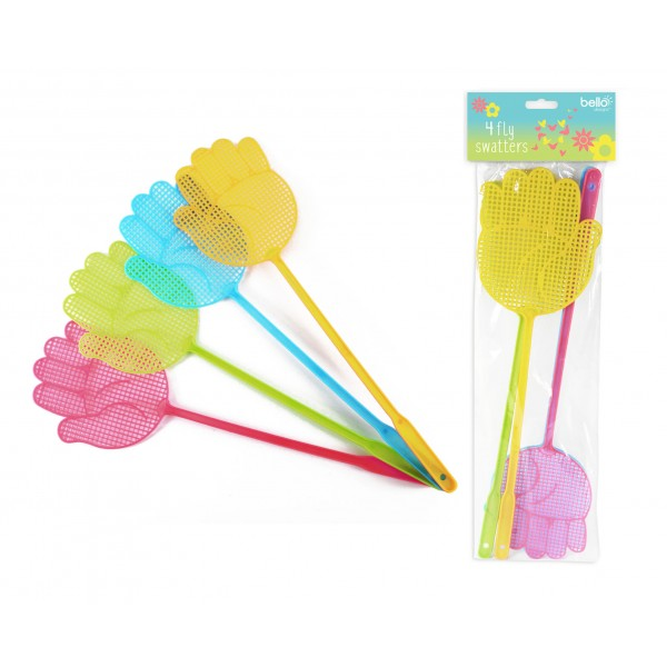 FLY SWATTERS PACK 4