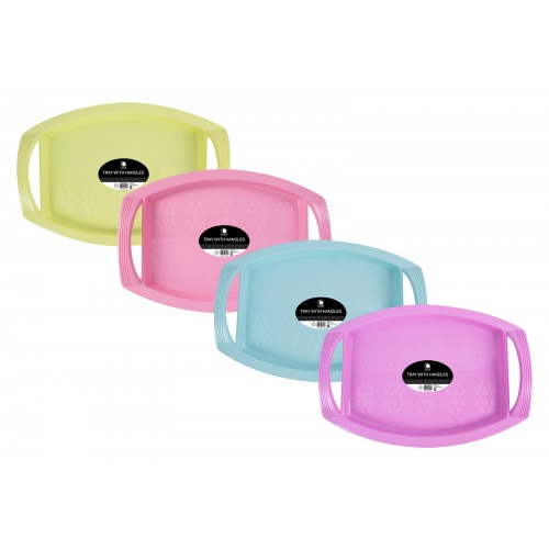 Living Colour SERVING TRAY WITH HANDLES 4 ASSORTED COLOURS