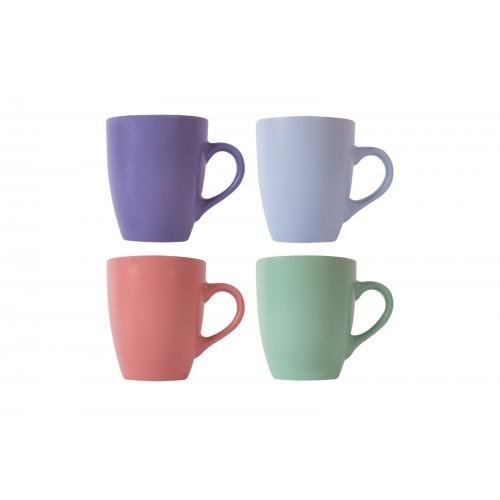 Mad About Mugs COUPE SHAPED STONEWARE MUG 11OZ 4 ASSORTED COLOURS