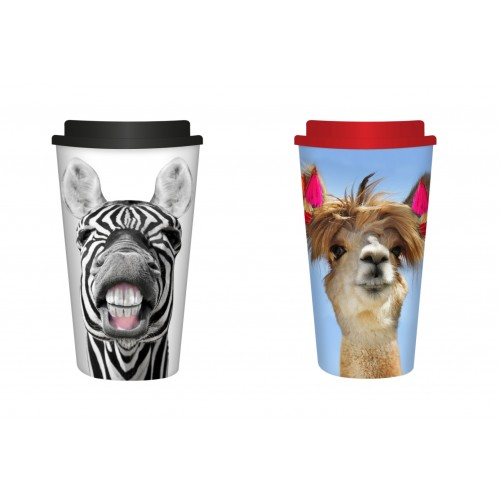 RSW TRAVEL MUG 450ML 2 ASSORTED DESIGNS