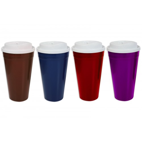 RSW TRAVEL MUG 450ML 4 ASSORTED COLOURS