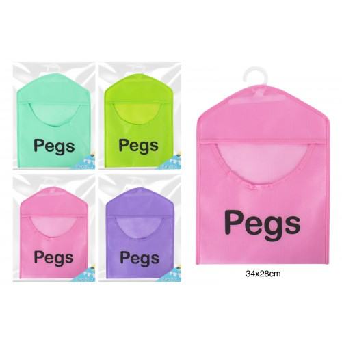 RSW PEG BAG 34X28CM 4 ASSORTED COLOURS