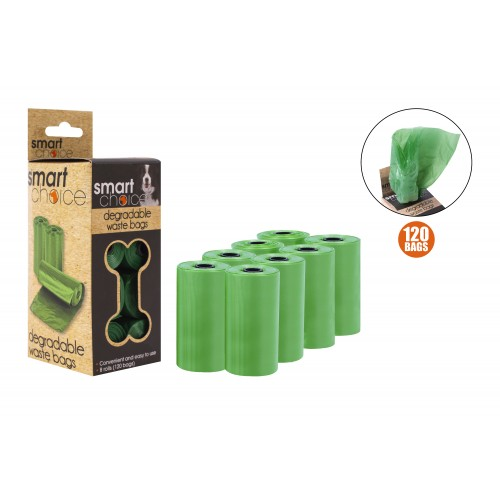 Smart Choice DEGRADABLE DOG WASTE BAGS 8 PACK