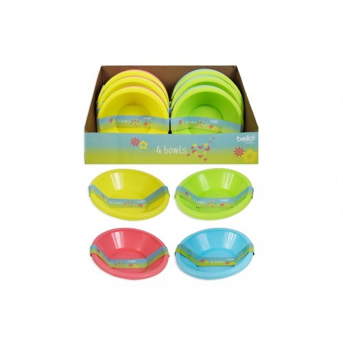 Bello PICNIC BOWLS 4 PACK 4 ASSORTED COLOURS