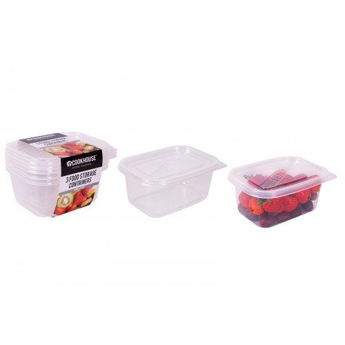 CookHouse FOOD STORAGE CONTAINER 700ML 3 PACK
