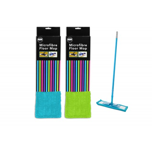 Brights Kitchenware MICROFIBRE FLOOR MOP 2 ASSORTED COLOURS