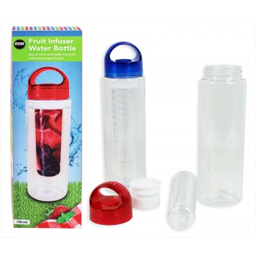 700ML FRUIT INFUSER WATER BOTTLE 2 COLOURS