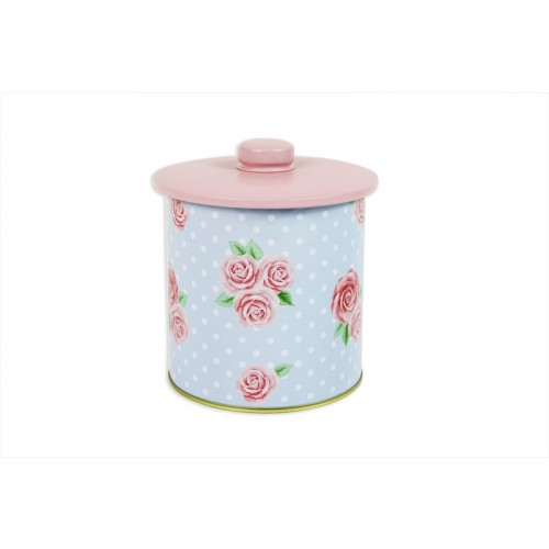 AFTERNOON TEA STORAGE CANISTER WITH LID 11X11CM