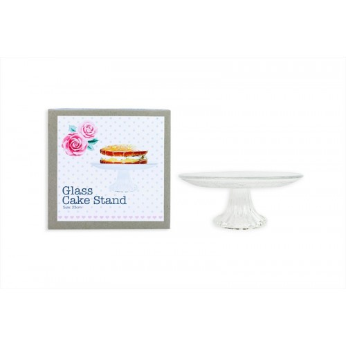 GLASS CAKE STAND WITH FOOT 23X7.5CM AFTERNOON TEA
