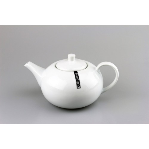 Modena PORCELAIN 1.4 LITRE GLOSS WHITE TEA POT