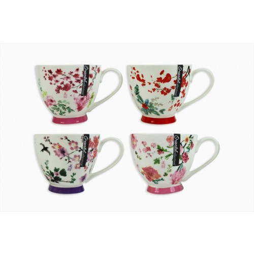 Mad About Mugs NEW BONE CHINA MUG 4 ASSORTED ORIENTAL DESIGNS