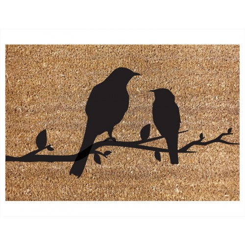 RSW COIR DOOR MAT BIRDS ON A BRANCH DESIGN 40X60CM