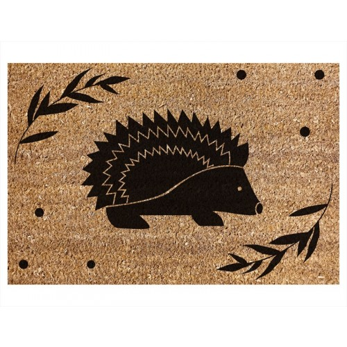 COIR DOOR MAT HEDGEHOG DESIGN 40X60CM