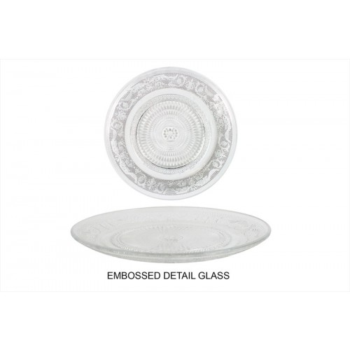 GLASS TEA PLATE 20CM