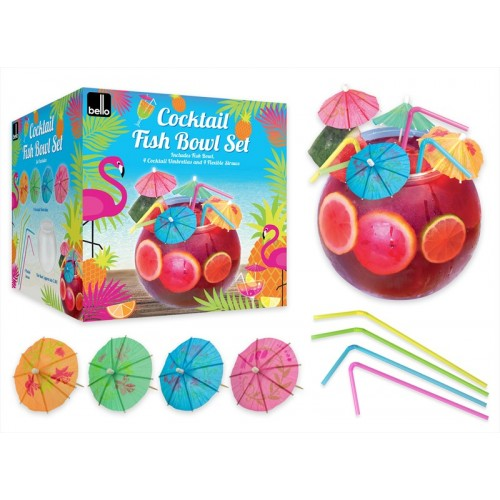COCKTAIL FISH BOWL SET 2.8L
