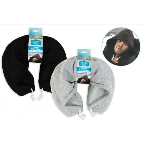 ADULTS HOODED NECK TRAVEL PILLOW