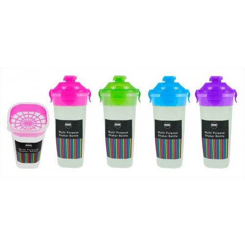 MULTI PURPOSE SHAKER BOTTLE 4 COLOURS 500ml