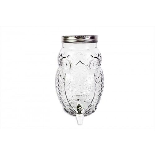 Bello GLASS DRINKS DISPENSER 5L OWL DESIGN