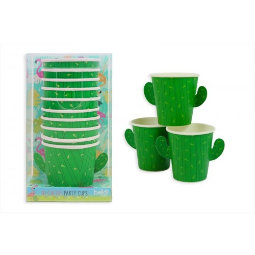 CACTUS NOVELTY PAPER CUPS PK10 80ml